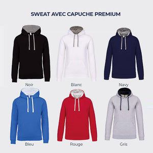 "Sweat natation ""Crawl Boy "" (options : capuche / zip)"
