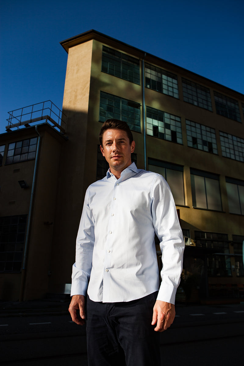 Sustainable made to measure button-up shirt