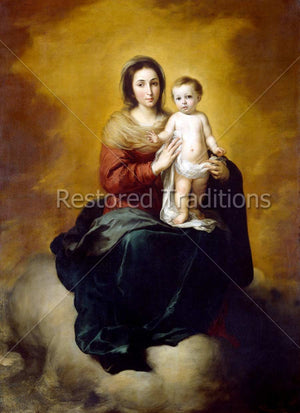 Mary with her son