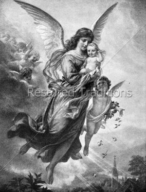 Angel Carrying Baby