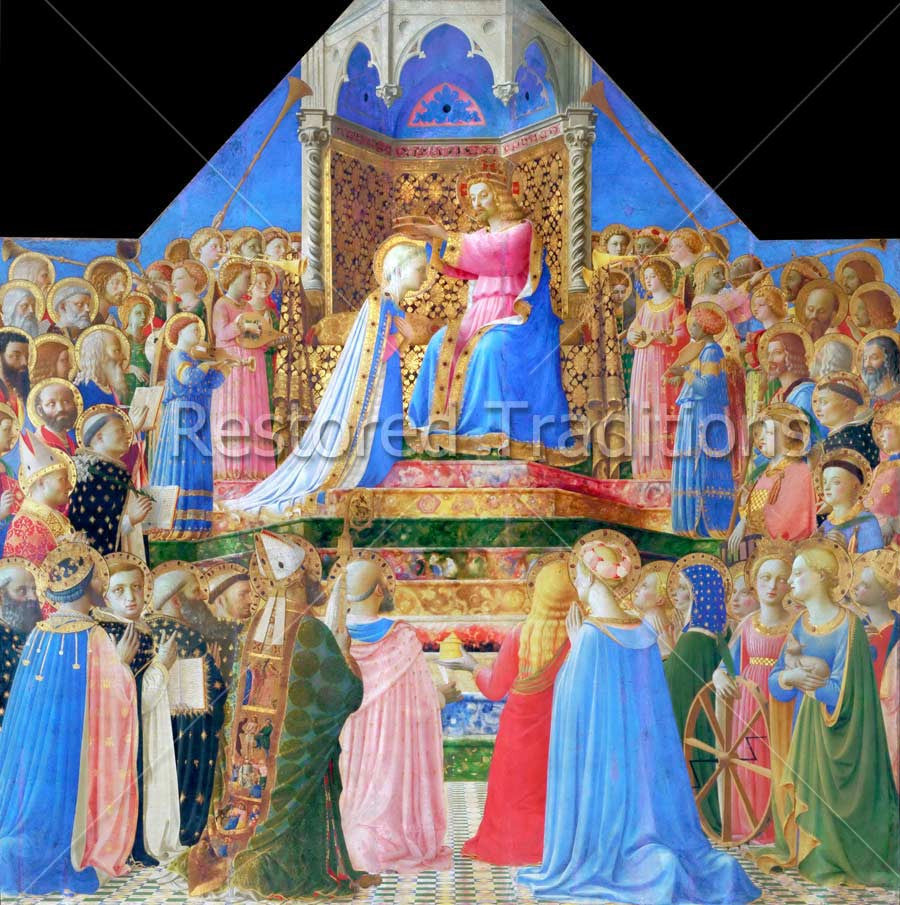 Jesus Crowns Queen of Heaven