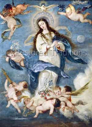 Virgin Mary and Cherub Angels