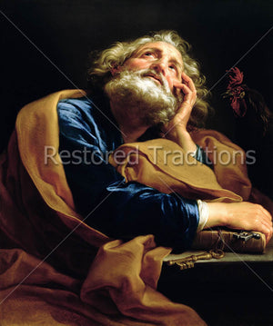 Apostle Peter holding keys.