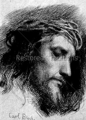 Suffering Christ, Etching