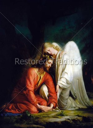 Angel Holding the Suffering Jesus
