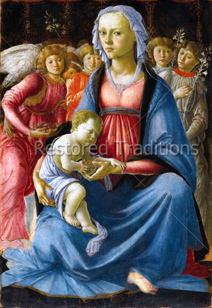 Madonna and Baby Jesus with Angels
