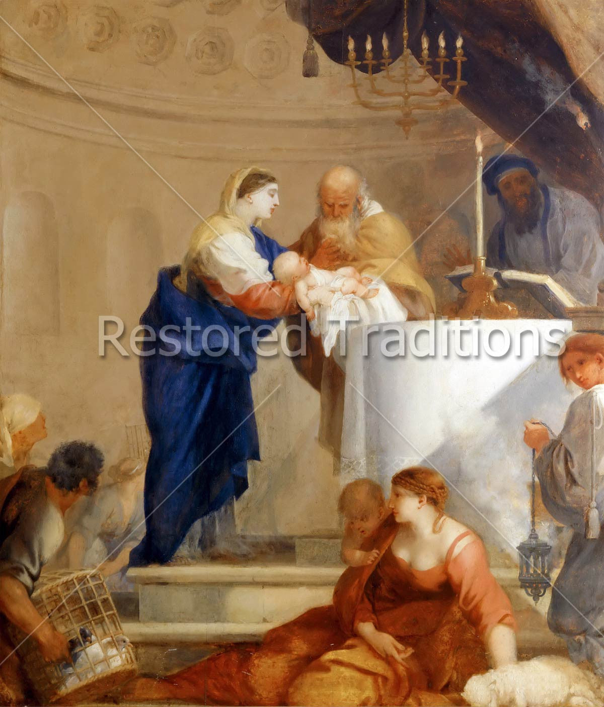 Presentation of baby jesus in the temple to simeon - Child jesus images download ...