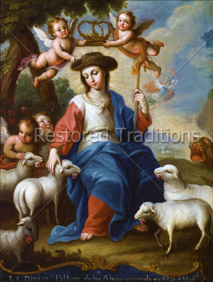 Virgin Mary Guarding Sheep