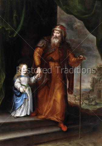 Joachim Leads Virgin Mary into Temple
