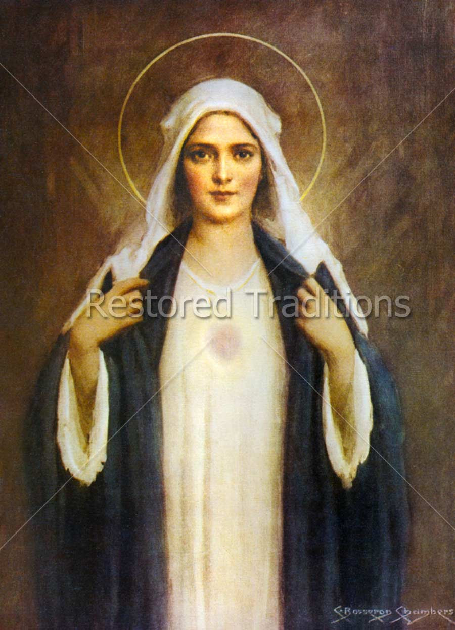 Mary With Visible Heart