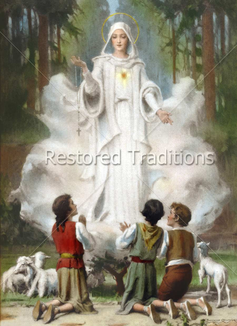 Our Lady Of Fatima By C Bosseron Chambers Restored Traditions