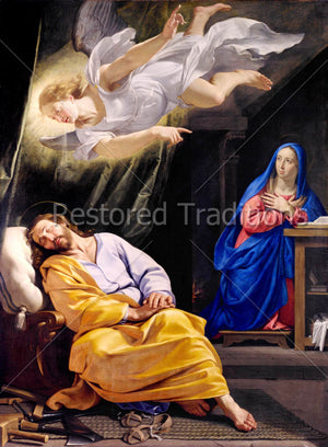 Angel Appears to and INstructs St. Joseph