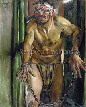 Blindfolded Man in Chains