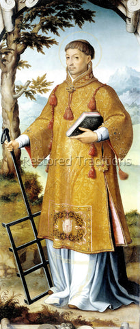 Martyr Saint Lawrence Holding Rack