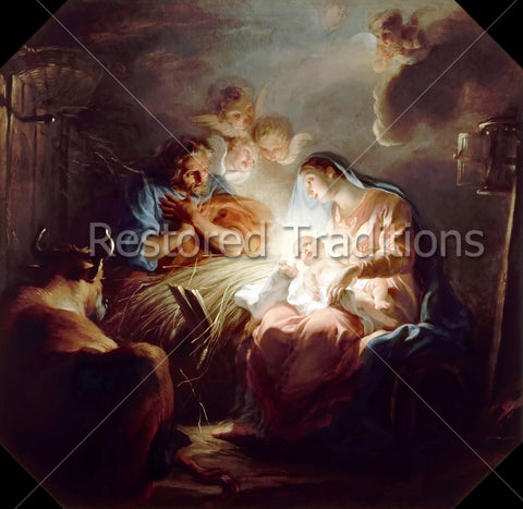Birth of Christ in Bethlehem Stable