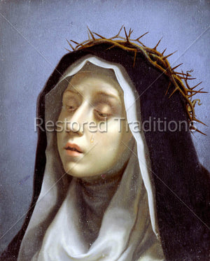 Dominican sister wearing thorns on head