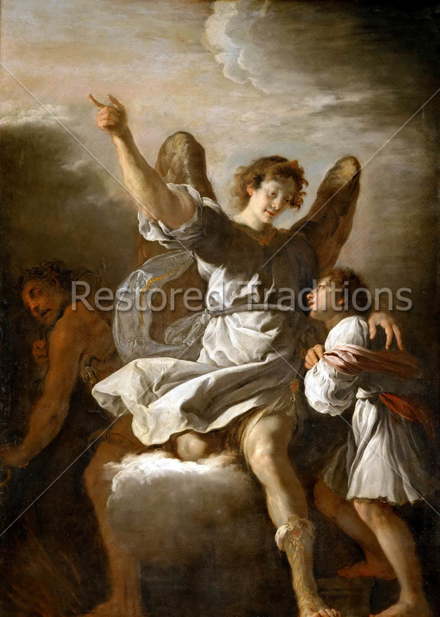 Angel Protecting Boy from Devil