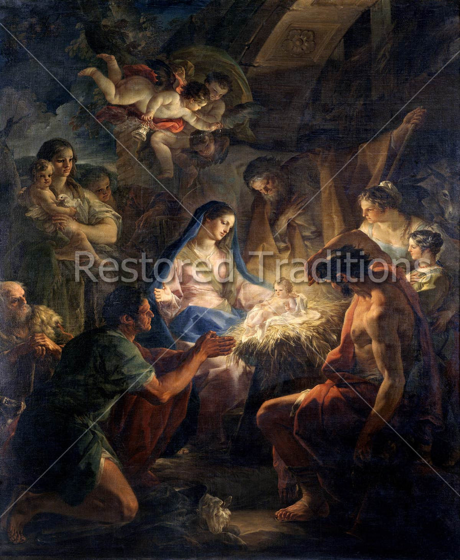 Birth of Jesus in Stable