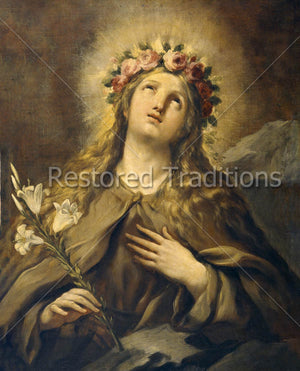 Rosalia Wearing Crown of Roses