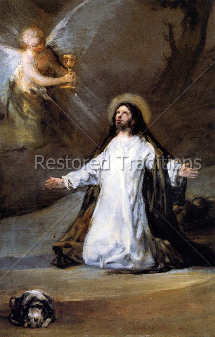 Our Lords Agony in the Garden Gethsemane by Goya Royalty Free
