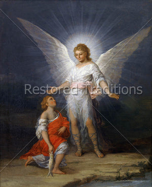 white boy angel with boy