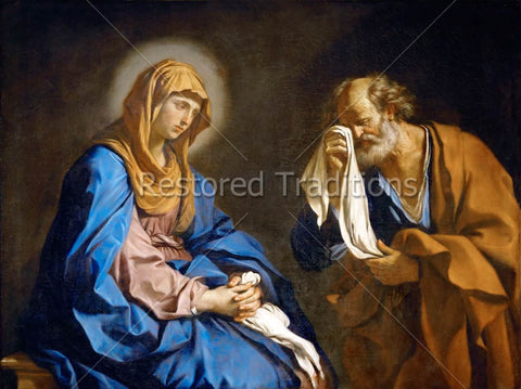 Simon Peter cries beside Mary