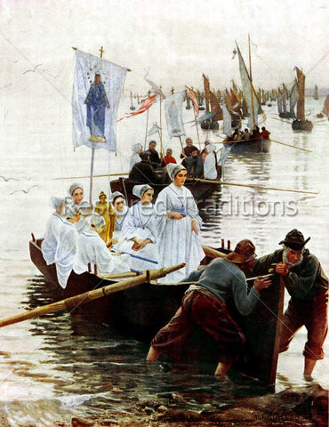Catholic Procession on Boats