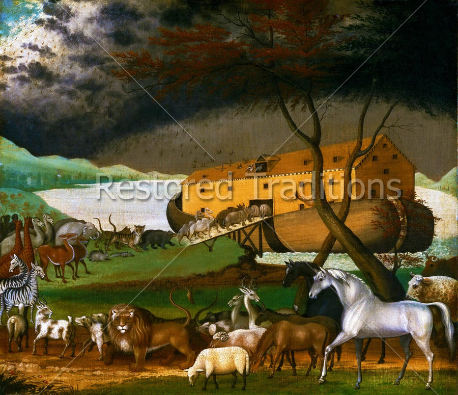 Animals Getting on Noah's Boat