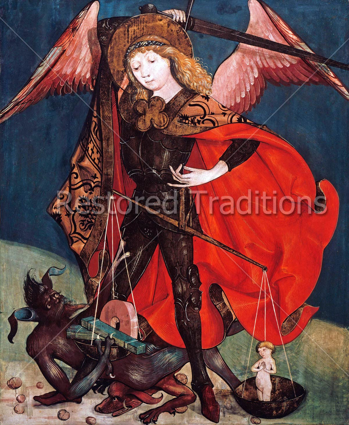Download Image File: St Michael The Archangel Saving Souls