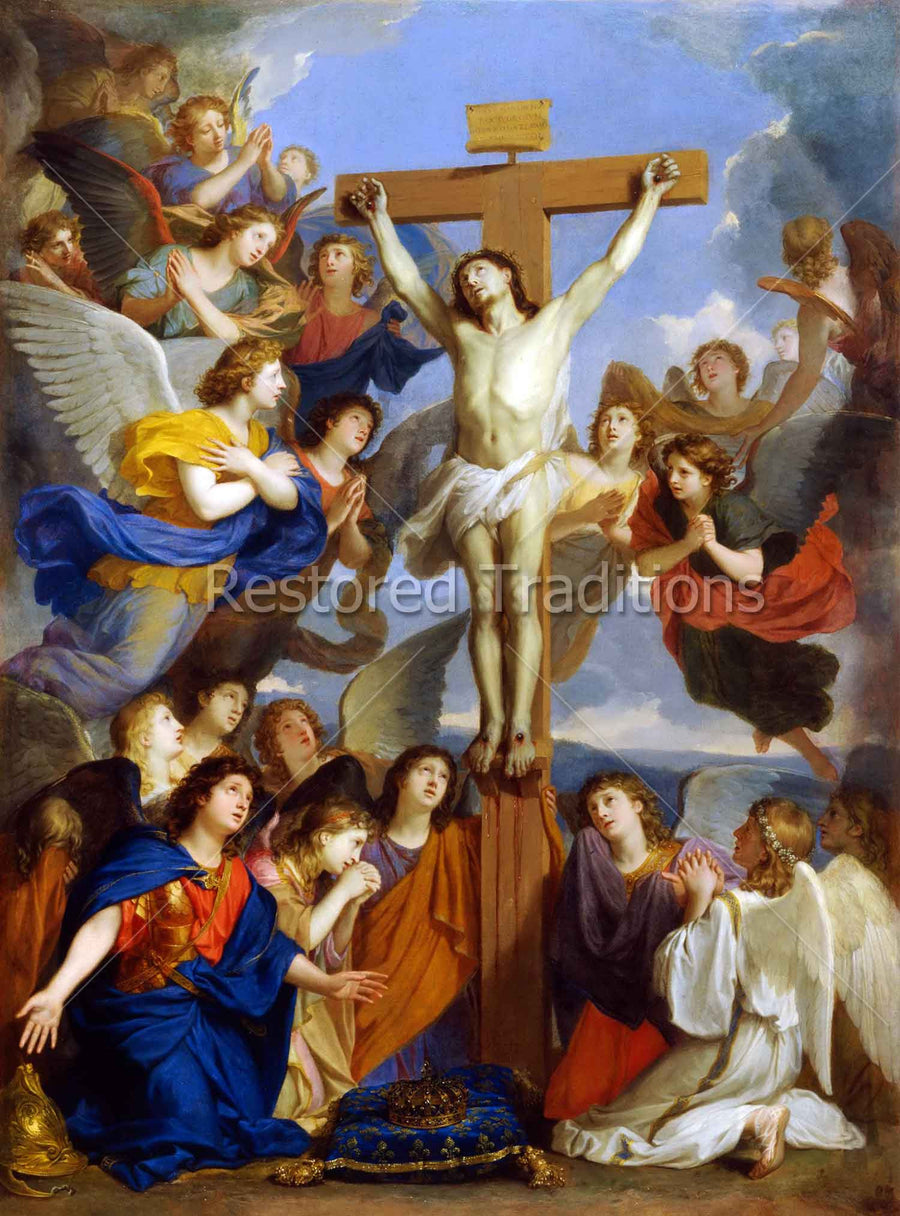 Crucified Christ Adored by Angels