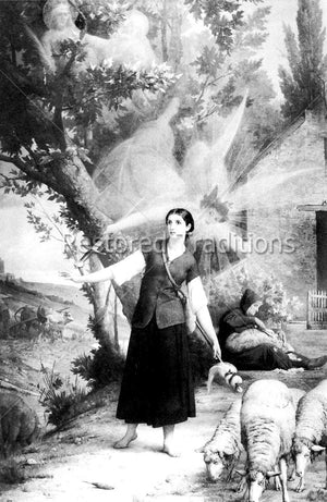 Shepherdess seeing heavenly spirits