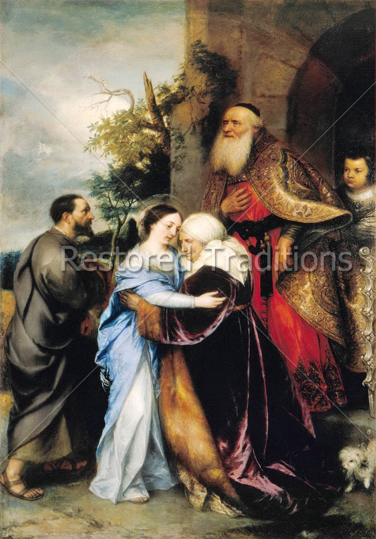 High Res Image Of Our Lady Embracing St Elizabeth By Artist J Lievens