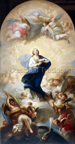 Our Lady in Heaven with God the Father