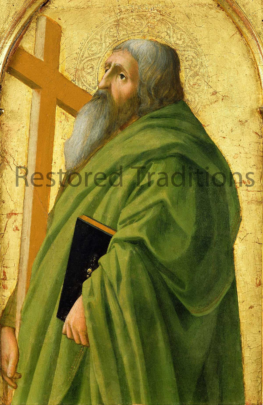 Saint Andrew with his cross