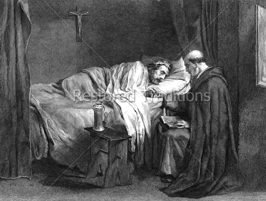 priest at bedside
