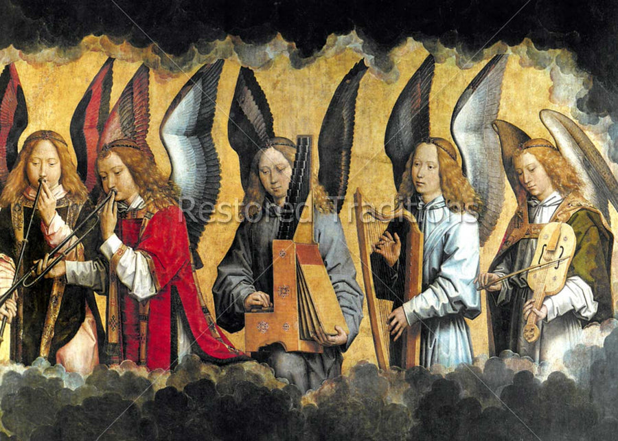 Angels Playing Musical Instruments