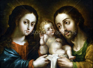holy parents with Christ Child