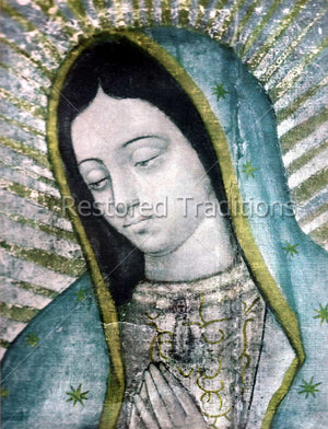 Face of the Mexican Virgin Mary