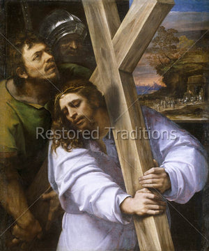 Christ Carries Cross With Simon