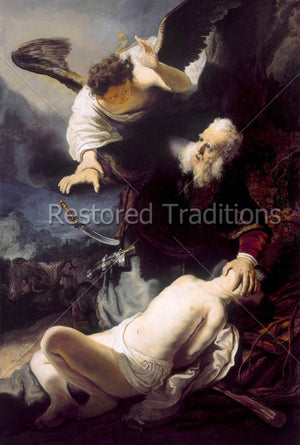 Angel Stops Abraham from Killing Isaac