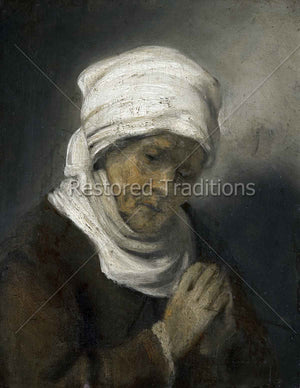 Peasant Woman Praying Portrait
