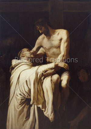 Our Lord Embraces Saint Bernard