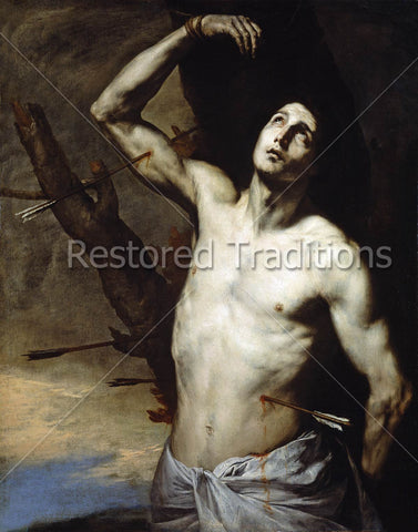 Catholic Martyr Pierced with Arrows