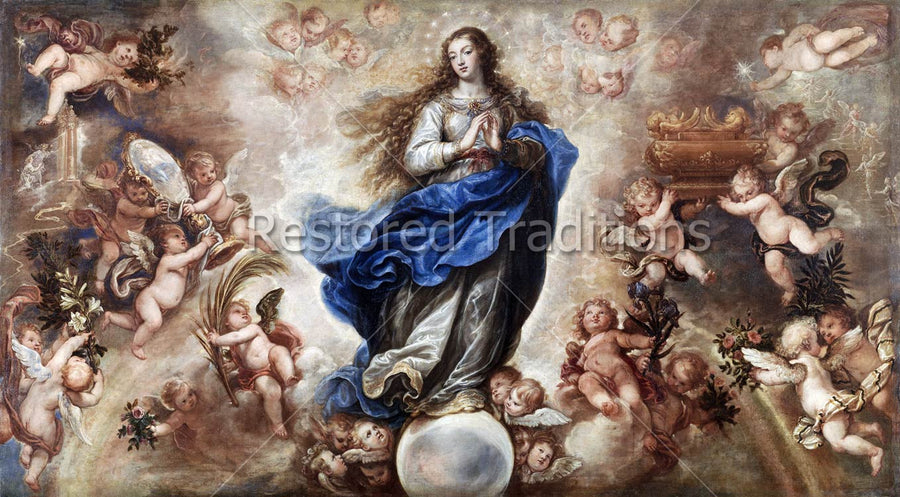 Mary with Multitude of Angels