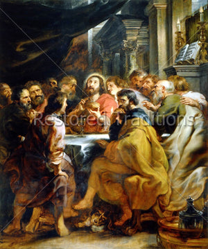 Jesus Christ Eating With Apostles