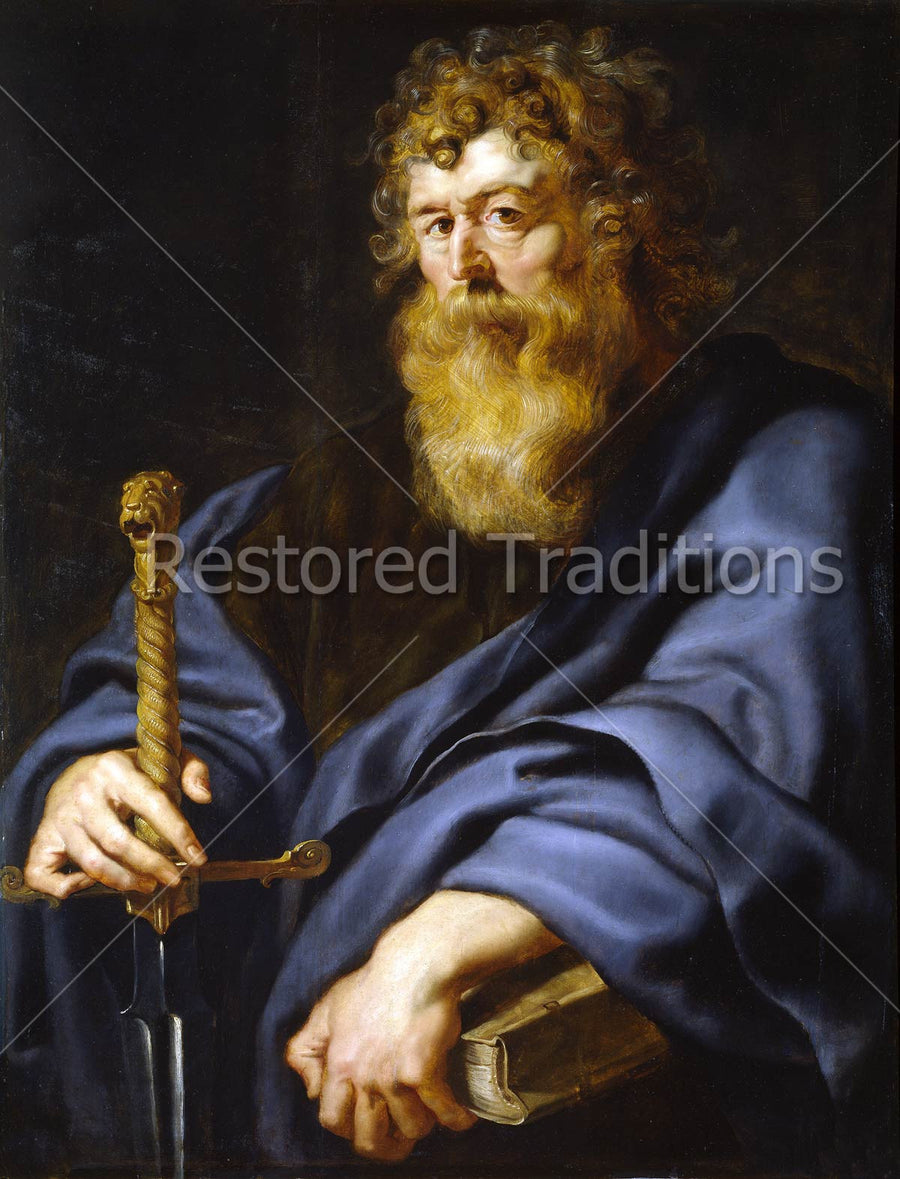 Apostle Paul with Sword and Book