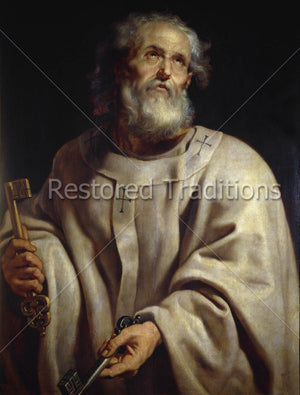 Apostle holding two keys