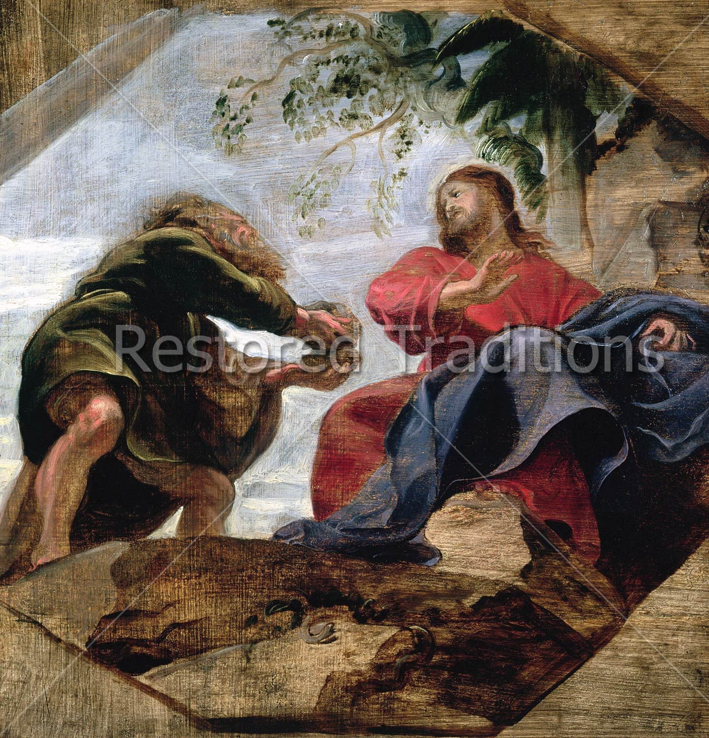 High Res Art Image Of The Temptation Christ By Peter Paul Rubens