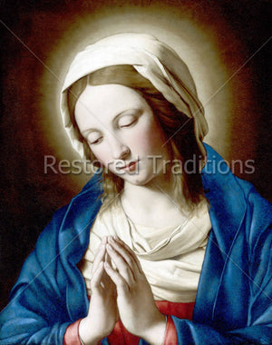 Mary with Folded Hands