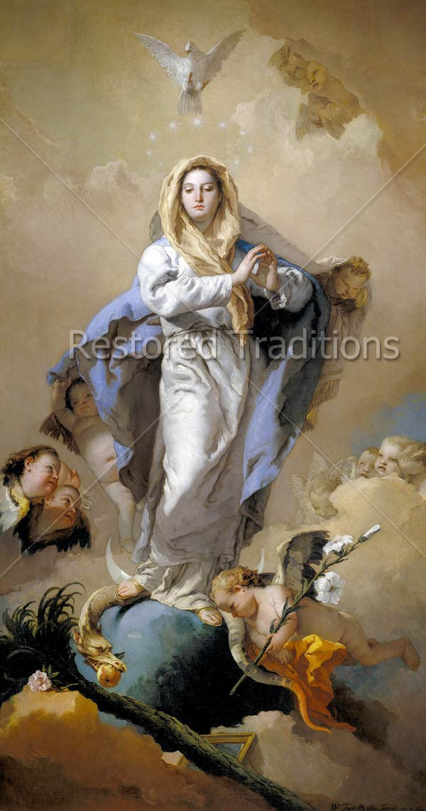 Mary stands on Earth and Serpent